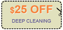 deep cleaning coupon - $25.00 off