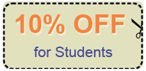 student discount coupon - 10% off